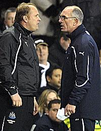 Andy standing up to former (Dirty) Leeds, Man Utd and AC Milan hard man, Joe Jordan