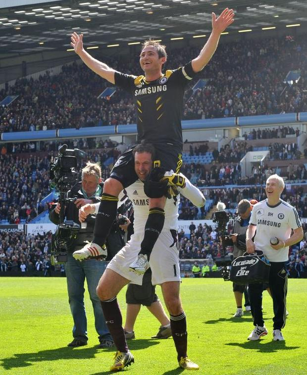 Celebrating with Cech